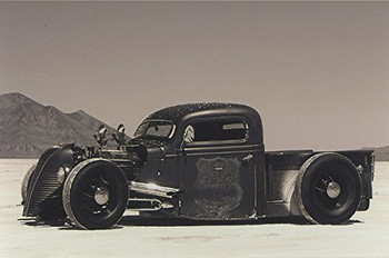 American Collectibles Salt Flat Truck Run Roadster Racer, Photography by Mo Hernandez Metal Sign