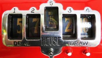 "REEL ""21"" FIVE REEL TRADE STIMULATOR Red/Black SLOT MACHINE Circa 1930's"