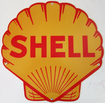 Shell Clamshell Metal Sign ( Plasma-Cut )