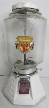 Northwestern White Porcelain Penny Peanut / Candy Circa 1930's