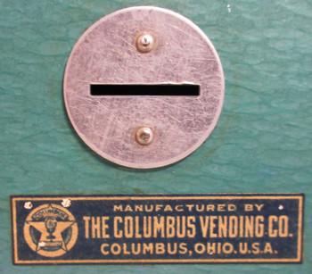 Columbus Penny Match Box Dispenser circa 1900's