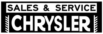 Chrysler Sales and Service Auto Metal Sign