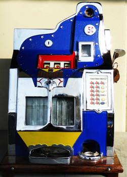 MILLS 5c QT Twenty-One Star Slot Machine circa 1930's