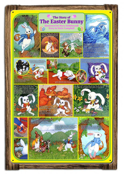 The Story of the Easter Bunny Framed Metal Sign