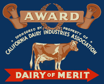 Dairy Merit Award Metal Sign