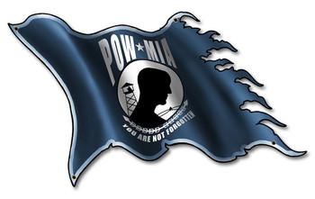 POW MIA You are Not Forgotten Flag Metal Sign
