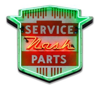 1950's Nash Neon Stylized Metal Sign