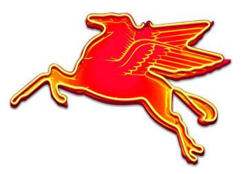 Pegasus Facing Left Neon Stylized Metal Sign