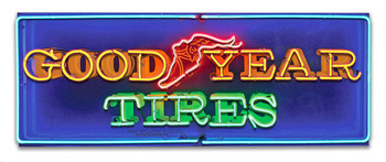 Good Year Tires Neon Stylized Metal Sign by Larry Grossman