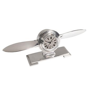 Propeller Clock White Face