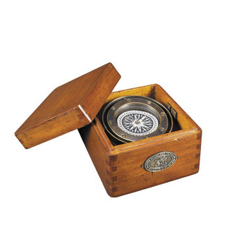 Lifeboat Compass with Wood Box