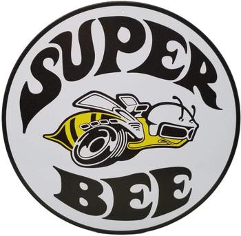 """Super Bee 12"""" Round Metal Sign"""
