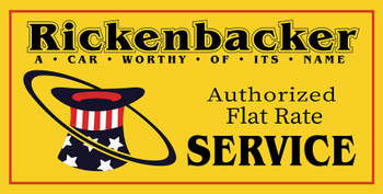 "Rickenbacker Authorized Service Metal Sign 24"" x 12"""