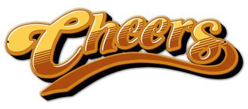 Cheers Logo Plasma Cut Metal Sign