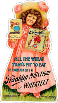 Franklin Mills Flour Plasma Cut Metal Sign