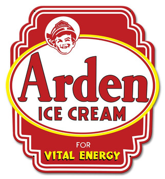 Arden Ice Cream Dairy Plasma Cut Metal Sign
