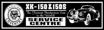 Jaguar XK150 & 150S Service Centre Metal Sign