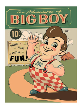 The Adventures of Big Boy Comic Cover Metal Sign