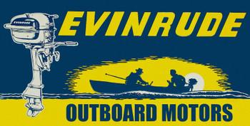 """Evinrude Outboard Motors Metal Sign 24"""" x 12"""""""