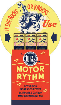 Whiz Motor Rythm Oil Plasma Cut Metal Sign