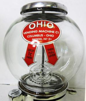 Ohio 1c Model 2 Bulk Peanut / Candy Dispenser circa 1930's Aluminum