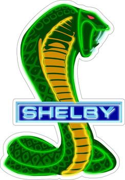 Shelby Cobra Snake Neon Stylized Plasma Cut Metal Sign