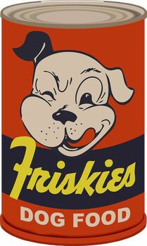 Friskies Dog Food Can Plasma Cut Metal Sign
