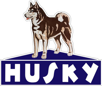 Husky Gasoline Company Logo Plasma Cut Metal Sign