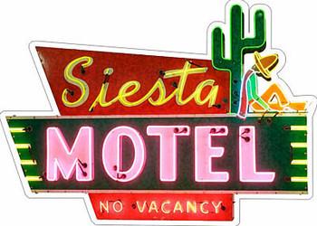 Siesta Motel No Vacancy Desert Stay Plasma Cut Metal Sign