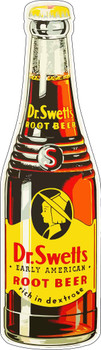 Dr. Swett's Root Beer Bottle Metal Sign