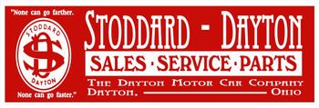 Stoddard Dayton Sales Service Parts Metal Sign 30 x 10