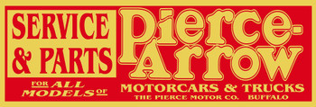 "Pierce Arrow Service and Parts Metal Sign 30"" x 10"""