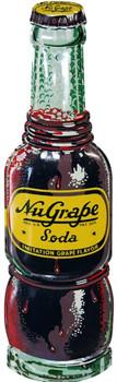 NuGrape Soda Bottle Metal Sign