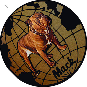 "Mack Bulldog Truck 14"" Round Metal Sign"