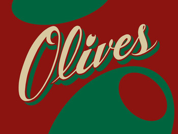 Olives Metal Sign by Marty Mummert