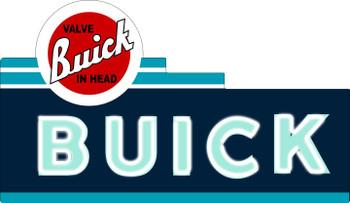 Buick Valve in Head Plasma Cut Metal Sign
