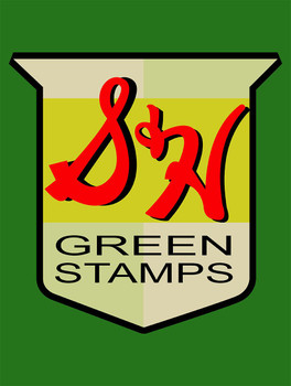 Green Stamps Metal Sign