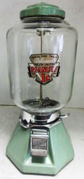 Northwestern 1c Light Green Porcelain Peanut Dispenser circa 1930