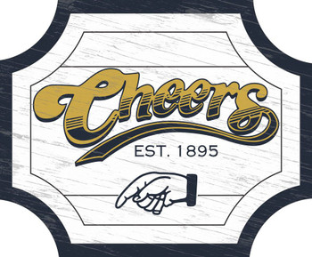 Cheers Double Sided Hanging Sign with Bracket