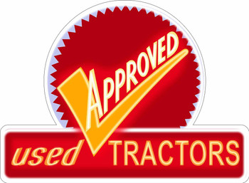 Approved Tractors Neon Stylized Metal Sign