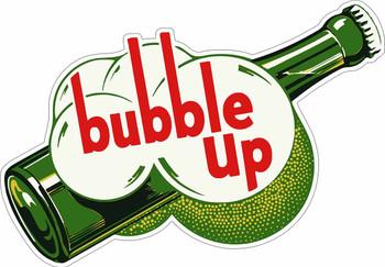 Bubble Up Bottle with bubbles Plasma Cut Metal Sign