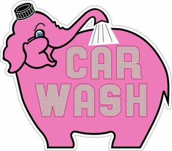 Elephant Car Wash Metal Sign