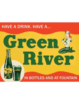 Green River Soda Metal Sign