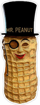 Mr. Peanut Suit Metal Sign