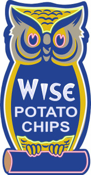 Wise Owl Potato Chips Neon Stylized Metal Sign