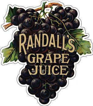 Randall's Grapes Metal Sign