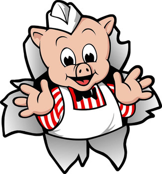 Piggly Wiggly Mascot Metal Sign