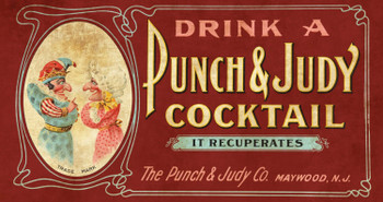 Punch & Judy Cocktail Rustic Metal Sign