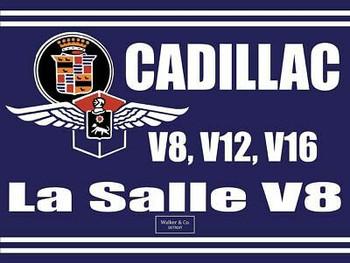 Cadillac La Salle V8, Cadillac Emblem Metal Sign