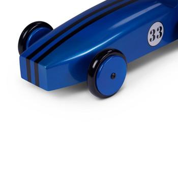Blue Metallic Mahogany Model Racing Car